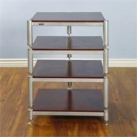 View a larger image of the VTI BL304SSC BL Series AV Rack (Silver Cap Silver Frame Cherry Shelf).