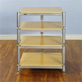 View a larger image of the VTI BL304SSO BL Series AV Rack (Silver Cap Silver Frame Oak Shelf).