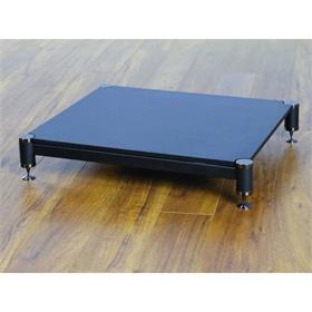 View a larger image of the VTI BL404BB-01 BL Series AMP Stand (Black Cap Black Pole Black Shelf).