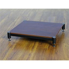 View a larger image of the VTI BL404BC-01 BL Series AMP Stand (Black Cap Black Pole Cherry Shelf).