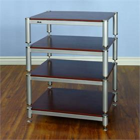 View a larger image of the VTI BL404SSC BL Series Audio Rack (Silver Cap Silver Pole Cherry Shelf).