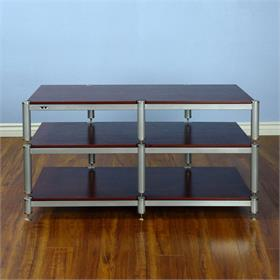 View a larger image of the VTI BL503SSC BL Series TV Stand (Silver Cap Silver Pole Cherry Shelf).