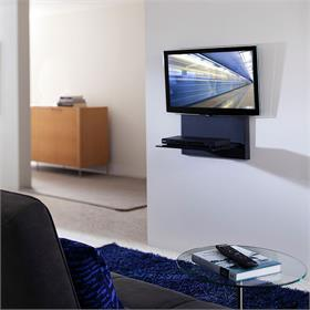 View a larger image of the OmniMount BLADE1 Single Glass Shelf AV Wall System.