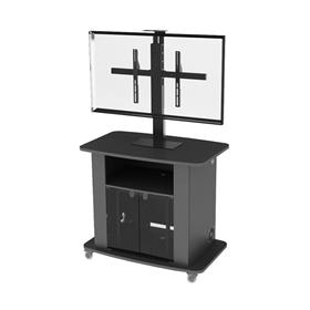 View a larger image of the Audio Visual Furniture Tall Single Display Cart for Large Screens C2736-42-S here.