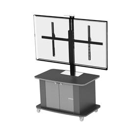 View a larger image of the Audio Visual Furniture Single Display Cart for XL Screens C2736-XL here.