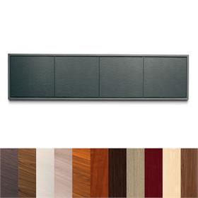 View a larger image of Middle Atlantic Credenza (4 Bay, 10 D, 24 H, Wood Kit, Frame) C3C4D2M here.