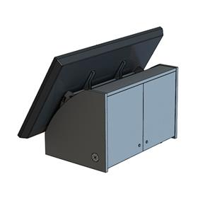 View a larger image of the AVFI CM4070 Confidence Monitor Mount with Shroud.