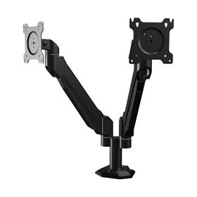 View a larger image of the Crimson DSA21F Single Link Dual Screen Desk Mount with Flat Base.