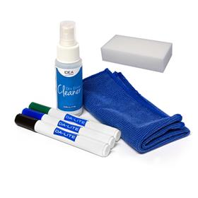 View a large image of the Da-Lite 22614 IDEA Accessory Kit (Markers, Eraser, Cleaner, Cloth) here.