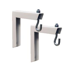 View a large image of the Da-Lite 40932 Small Wall Bracket (6 inch, White) here.