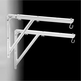View a large image of the Da-Lite 40933 Large Wall Bracket (18, 20 or 24 inch, White) here.