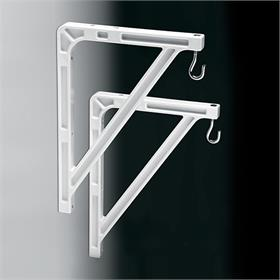 View a large image of the Da-Lite 40957 Medium Wall Bracket (10 or 14 inch, White) here.
