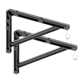 View a large image of the Da-Lite 98036 Medium Wall Bracket (10 or 14 inch, Black) here.