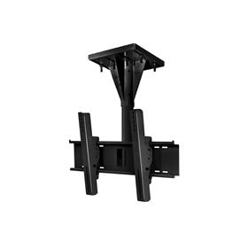 View a larger image of the Peerless ECMU-01-I Black Wind Rated I-Beam Ceiling Mount with 1 ft Drop.