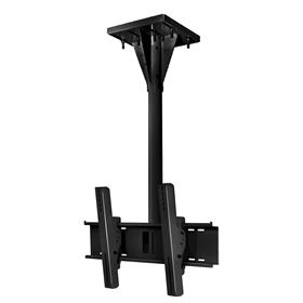 View a larger image of the Peerless ECMU-04-I Black Wind Rated I-Beam Ceiling Mount with 4 ft Drop.