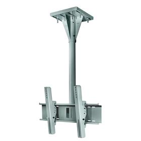 View a larger image of the Peerless ECMU-04-I-S Gray Wind Rated I-Beam Ceiling Mount with 4 ft Drop.