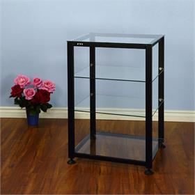 View a larger image of the VTI EGR404B EGR Series 4 Shelf AV Rack (Black Frame Clear Glass).