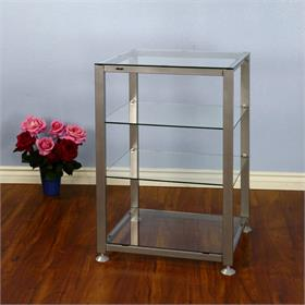 View a larger image of the VTI EGR404S EGR Series 4 Shelf AV Rack (Silver Frame Clear Glass).