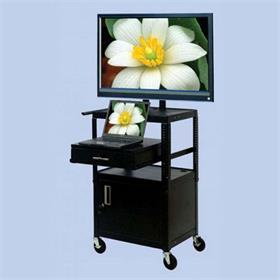 View a larger image of the VTI FDCAB4226E Mobile Cabinet with 37 inch TV Mount and Drawer.