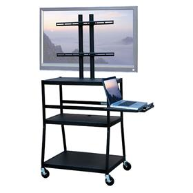 View a larger image of the VTI FPC4218E Mobile Cart with 42 inch TV Mount and Pull Out Shelf.