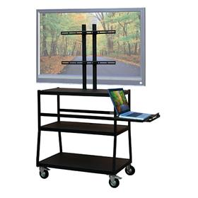 View a larger image of the VTI FPC4420E Mobile Cart with 47 inch TV Mount and Pull Out Shelf.