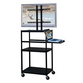 View a larger image of the VTI FPC5434E Mobile Cart with 42 inch TV Mount and Pull Out Shelf.