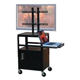 View a larger image of the VTI FPCAB4226E Mobile Cabinet with 32 inch TV Mount and Pull Out Shelf.
