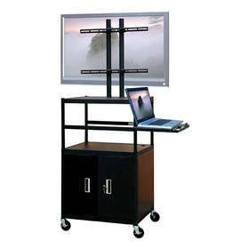 View a larger image of the VTI FPCAB5434E Mobile Cabinet with 50 inch TV Mount and Pull Out Shelf.