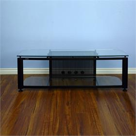 View a larger image of the VTI HGR60B HGR Series TV Stand (Black Frame Clear Glass).