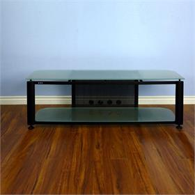 View a larger image of the VTI HGR60BF HGR Series TV Stand (Black Frame Frosted Glass).