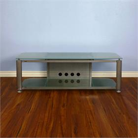 View a larger image of the VTI HGR60SF HGR Series TV Stand (Silver Frame Frosted Glass).