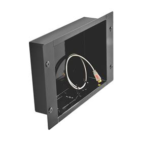 View a larger image of the Peerless IBA2 Large Black Recessed Cable Management Storage Box.