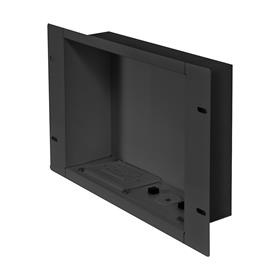 View a larger image of the Peerless IBA2AC Large Black Recessed Storage Box with Power Receptacle.