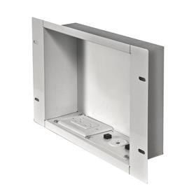 View a larger image of the Peerless IBA2AC-W Large White Recessed Storage Box with Power Receptacle.