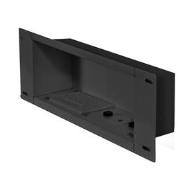 View a larger image of the Peerless IBA3AC Black Recessed Storage Box with Power Receptacle.