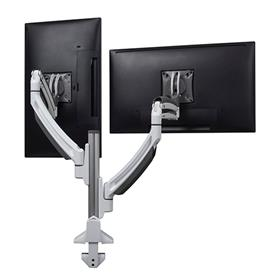 View a larger image of the Chief K1C220W White Kontour Dual Screen Dynamic Column Desk Mount.