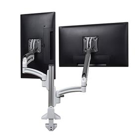 View a larger image of the Chief K1C220WXRH White Kontour Reduced Height Dual Screen Dynamic Column Desk Mount.