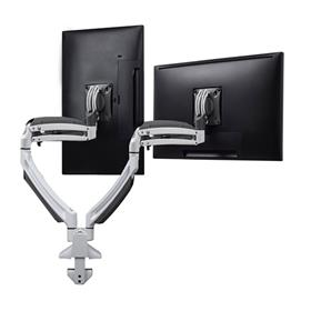 View a larger image of the Chief K1D220W White Kontour Dual Screen Dynamic Desk Mount.