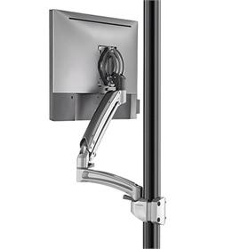 View a larger image of the Chief Kontour Dynamic Pole Mount Reduced Height, 1 Monitor, SLV, K1P120SXRH.