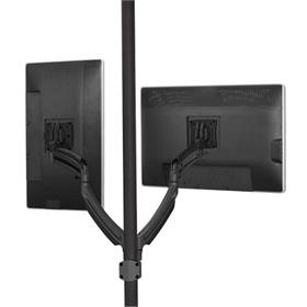 View a larger image of the Chief K1P220B Kontour Dual Screen Dynamic Pole Mount.
