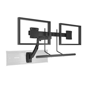 View a larger image of the Chief K1S22HB Kontour Dual Screen Array Dynamic Slat Wall Mount.