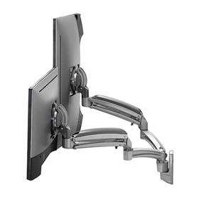 View a larger image of the Chief K1W220SXRH Kontour Reduced Height Dual Screen Dynamic Wall Mount.