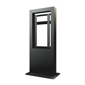 View a larger image of the Peerless KIP540B Black Indoor Portrait Back to Back Kiosk Enclosure for 40