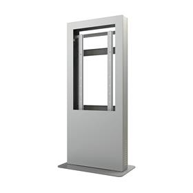 View a larger image of the Peerless KIP546B-S Silver Indoor Portrait Back to Back Kiosk Enclosure for 46