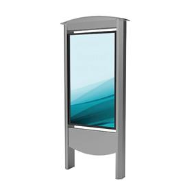 View a large image of Peerless Xtreme Outdoor Smart City Kiosk (49 inch, Silver) KOP2549-S-XHB here.