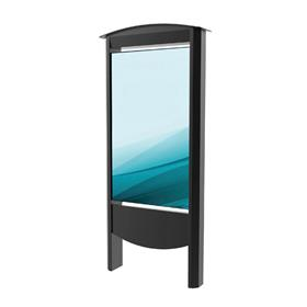 View a large image of Peerless Xtreme Outdoor Smart City Kiosk (55 inch, Black) KOP2555-XHB here.