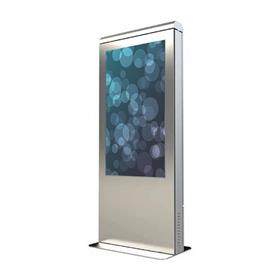 "View a larger image of the Peerless KOP555-S-XTR Silver 55"" Xtreme Outdoor Kiosk with Bonded Display."