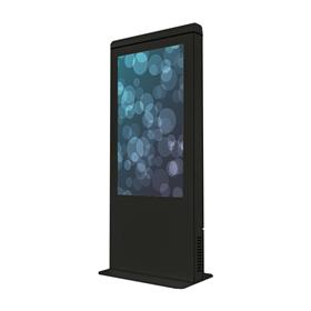 "View a larger image of the Peerless KOP547-XTR Black 47"" Xtreme Outdoor Kiosk with Bonded Display."