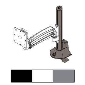 View a larger image of the Chief KXC K1C K2C Column Desk Clamp Base Kit, KRA245B, KRA245S, KRA245W here.