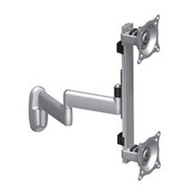 View a larger image of the Chief KWD230S Silver Vertical Dual Arm 1x2 Wall Mount.